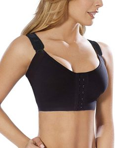 Burvogue Women Post-Surgery Front Close Brassiere Sports Bra